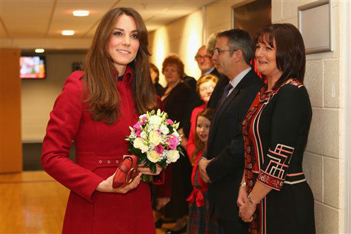 Britain&#39;s Duchess of Cambridge arrives for a reception for the Welsh Rugby Charitable Trust &#40;WRCT&#41; which supports injured rugby players  ahead of the autumn international rugby match between Wales and New Zealand at the Millennium Stadium in Cardiff, Saturday, Nov. 24, 2012. The Duke of Cambridge  pledged his support Saturday to injured sportsmen and women when he met supporters and beneficiaries of the Welsh Rugby Charitable Trust &#40;WRCT&#41;.  &#40;AP Photo &#47;  Michael Steele, Pool&#41; <span class=meta>(AP Photo&#47; Michael Steele)</span>