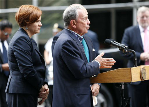 "<div class=""meta ""><span class=""caption-text "">New York City Mayor Michael Bloomberg talks to the media near the Empire State Building following a shooting, Friday, Aug. 24, 2012, in New York. Bloomberg said some of the victims may have been hit by police bullets as police and the gunman exchanged fire. Police say a recently laid-off worker shot a former colleague to death near the iconic skyscraper and then randomly opened fired on people nearby before firing on police. (AP Photo/Julio Cortez) (AP Photo/ Julio Cortez)</span></div>"