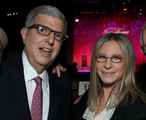 In this Nov. 8, 2011 file photograph  originally released by Cedars-Sinai Medical Center shows composer Marvin Hamlisch, left, and Barbra Streisand at the Cedars-Sinai Board of Governors Gala at The Beverly Hilton Hotel in Beverly Hills, Calif. Hamlisch, a conductor and award-winning composer best known for the torch song &#34;The Way We Were,&#34; died Monday, Aug. 6, 2012 in Los Angeles. He was 68. &#40;AP Photo&#47;Cedars-Sinai Medical Center, Alex J. Berliner, file &#41; <span class=meta>(AP Photo&#47; Alex J. Berliner)</span>