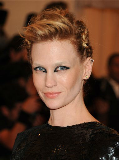 Actress January Jones attends The Metropolitan Museum of Art  Costume Institute gala benefit, &#34;Punk: Chaos to Couture&#34;, on Monday, May 6, 2013 in New York. &#40;Photo by Evan Agostini&#47;Invision&#47;AP&#41; <span class=meta>(Photo&#47;Evan Agostini)</span>