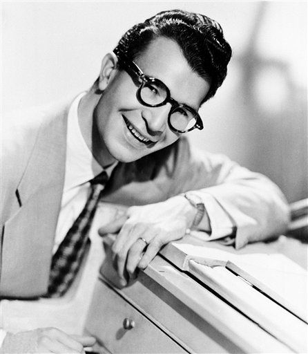 "<div class=""meta image-caption""><div class=""origin-logo origin-image ""><span></span></div><span class=""caption-text"">FILE - This 1956 file photo shows American composer, pianist and jazz musician Dave Brubeck. Brubeck, a pioneering jazz composer and pianist died Wednesday, Dec. 5, 2012 of heart failure, after being stricken while on his way to a cardiology appointment with his son. He would have turned 92 on Thursday.  (AP Photo, file) (AP Photo/ Uncredited)</span></div>"
