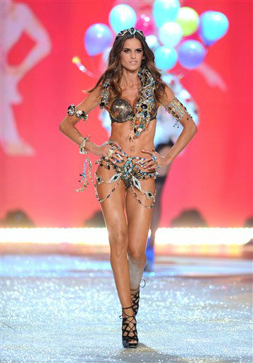 A model walks the runway during the 2012 Victoria's Secret Fashion Show on Wednesday Nov. 7, 2012 in New York. The show will be Broadcast on Tuesday, Dec. 4 (10:00 PM, ET/PT) on CBS. (Photo by Evan Agostini/Invision/AP)