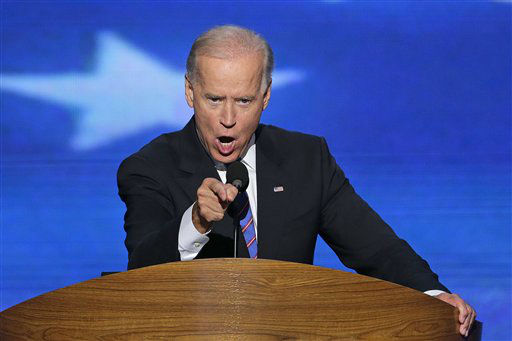 Vice President Joe Biden addresses the Democratic National Convention in Charlotte, N.C., on Thursday, Sept. 6, 2012. &#40;AP Photo&#47;J. Scott Applewhite&#41; <span class=meta>(AP Photo&#47; J. Scott Applewhite)</span>