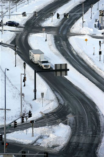 The roads in the Seaport area of Boston are clear and open early Sunday morning, Feb. 10, 2013. A snow storm dumped more than two-feet of snow in the area Friday night and Saturday. &#40;AP Photo&#47;Gene J. Puskar&#41; <span class=meta>(AP Photo&#47; Gene J. Puskar)</span>