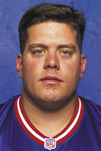 FILE - This 1998 photo provided by the NFL shows New York Giants football player Bryan Stoltenberg. Stoltenberg, an All-America offensive lineman for the Colorado Buffaloes, died Friday, Jan. 4, 2013, at his home in Sugarland, Texas. He was 40. Stoltenberg recently underwent several surgeries after being in a car accident last month, the school said on its website. &#40;AP Photo&#47;NFL, File&#41; NO SALES <span class=meta>(AP Photo&#47; Uncredited)</span>