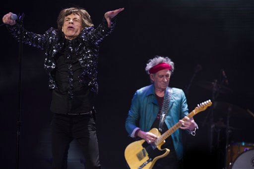"<div class=""meta ""><span class=""caption-text "">Mick Jagger, left, and Keith Richards of The Rolling Stones perform in concert on Saturday, Dec. 8, 2012 in New York. (Photo by Charles Sykes/Invision/AP) (Photo/Charles Sykes)</span></div>"