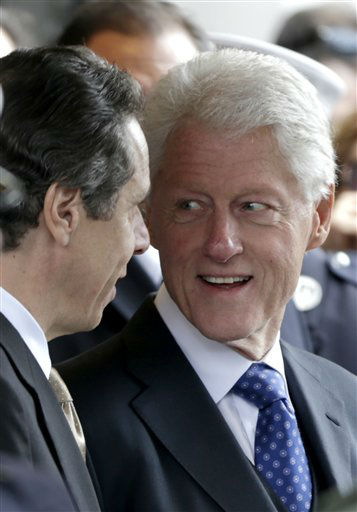 "<div class=""meta ""><span class=""caption-text "">Former President of the United States Bill Clinton talks with former New York City  Governor Andrew Cuomo after the funeral of former New York City Mayor Ed Koch in New York, Monday, Feb. 4, 2013. Koch was remembered as the quintessential New Yorker during a funeral that frequently elicited laughter, recalling his famous one-liners and amusing antics in the public eye. Koch died Friday of congestive heart failure at age 88. (AP Photo/Seth Wenig) (AP Photo/ Seth Wenig)</span></div>"