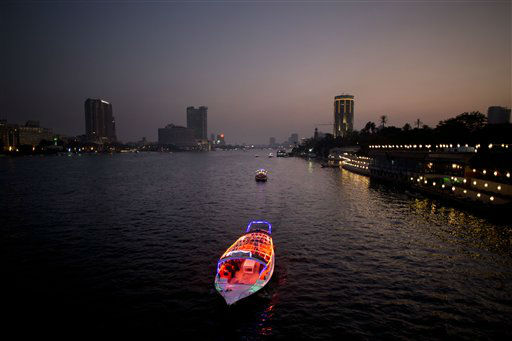 Boats travel on the Nile River in Cairo, Egypt, Wednesday, Nov. 7, 2012. &#40;AP Photo&#47;Bernat Armangue&#41; <span class=meta>(AP Photo&#47; Bernat Armangue)</span>