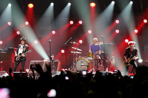 This image released by Starpix shows Ron Wood, from left, Charlie Watts, and Keith Richards of The Rolling Stones performing at the 12-12-12 The Concert for Sandy Relief at Madison Square Garden in New York on Wednesday, Dec. 12, 2012. Proceeds from the show will be distributed through the Robin Hood Foundation. &#40;AP Photo&#47;Starpix, Dave Allocca&#41; <span class=meta>(AP Photo&#47; Dave Allocca)</span>