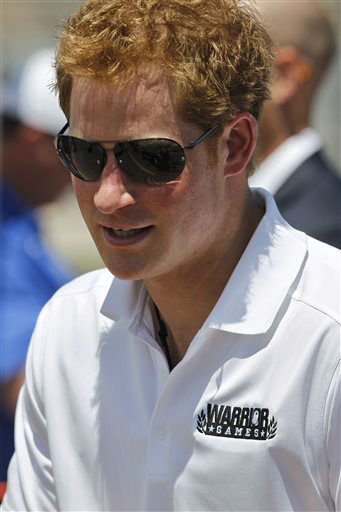 "<div class=""meta image-caption""><div class=""origin-logo origin-image ""><span></span></div><span class=""caption-text"">FILE - Prince Harry of Britain attends the 2013 Warrior Games, at the U.S. Air Force Academy, in Colorado, in this May 12, 2013 file photo. Britain's Prince Harry is headed to the New Jersey shore to visit two communities hard hit by Superstorm Sandy. With New Jersey Gov. Chris Christie as his guide, Prince Harry is scheduled to stop Tuesday  morning May 14, 2013 in the towns of Mantoloking and Seaside Heights on the Atlantic Ocean. (AP Photo/Brennan Linsley, File) (AP Photo/ Brennan Linsley)</span></div>"