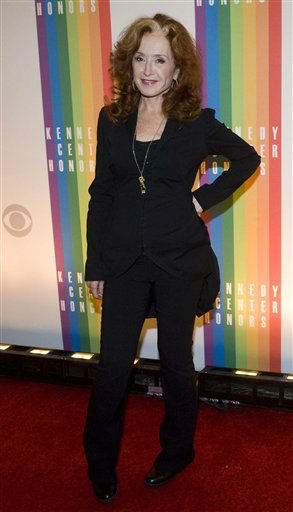 Bonnie Raitt arrives at the Kennedy Center for the Performing Arts for the 2012 Kennedy Center Honors Performance and Gala Sunday, Dec. 2, 2012 at the State Department in Washington. &#40;AP Photo&#47;Kevin Wolf&#41; <span class=meta>(AP Photo&#47; Kevin Wolf)</span>