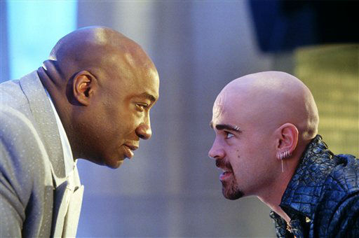 In this undated movie still provided by Twentieth Century Fox, the crime lord Kingpin, played by Michael Clarke Duncan, left, hires Bullseye, played by Colin Farrell, in a scene from the movie &#34;Daredevil&#34;, based on a popular comic book published by Marvel. Duncan, the hulking, prolific character actor whose dozens of films included an Oscar-nominated performance as a death row inmate in &#34;The Green Mile&#34; and such other box office hits as &#34;Armageddon,&#34; &#39;&#39;Planet of the Apes&#34; and &#34;Kung Fu Panda,&#34; is dead at age 54. &#40;AP Photo&#47;20th Century Fox, Zade Rosenthal&#41; <span class=meta>(AP Photo&#47; Zade Rosenthal)</span>
