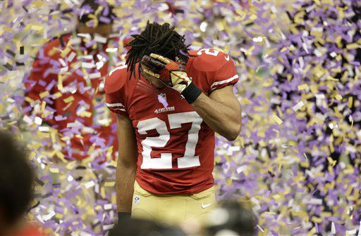 San Francisco 49ers safety C.J. Spillman &#40;27&#41; walks off the field after the Baltimore Ravens beat the San Francisco 49ers in the NFL Super Bowl XLVII football game Sunday, Feb. 3, 2013, in New Orleans. The Ravens won 34-31. &#40;AP Photo&#47;Gene Puskar&#41; <span class=meta>(AP Photo&#47; Gene Puskar)</span>
