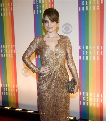 "<div class=""meta image-caption""><div class=""origin-logo origin-image ""><span></span></div><span class=""caption-text"">Actress Tina Fey arrives at the Kennedy Center for the Performing Arts for the 2012 Kennedy Center Honors Performance and Gala Sunday, Dec. 2, 2012 at the State Department in Washington. (AP Photo/Kevin Wolf) (AP Photo/ Kevin Wolf)</span></div>"