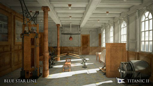 In this rendering provided by Blue Star Line, the gymnasium on the Titanic II is shown. The ship, which Australian billionaire Clive Palmer is planning to build in China, is scheduled to sail in 2016. Palmer said his ambitious plans to launch a copy of the Titanic and sail her across the Atlantic would be a tribute to those who built and backed the original. &#40;AP Photo&#47;Blue Star Line&#41; <span class=meta>(AP Photo&#47; Uncredited)</span>