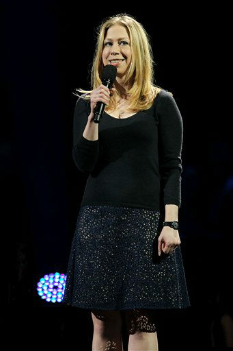 This image released by Starpix shows Chelsea Clinton speaking at the 12-12-12 The Concert for Sandy Relief at Madison Square Garden in New York on Wednesday, Dec. 12, 2012. Proceeds from the show will be distributed through the Robin Hood Foundation. &#40;AP Photo&#47;Starpix, Dave Allocca&#41; <span class=meta>(AP Photo&#47; Dave Allocca)</span>