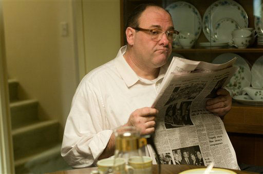 FILE - This publicity film image released by Paramount Vantage shows James Gandolfini, as Pat, in a scene from the film &#34;Not Fade Away.&#34; In the five years since ?The Sopranos? ended, Gandolfini has eschewed the spotlight, instead disappearing into character actor performances such as this one. These roles, while they may lack the iconography of Tony Soprano, have only further proved the actor&#39;s wide-ranging talent. &#40;AP Photo&#47;Paramount Vantage, File&#41; <span class=meta>(AP Photo&#47; Uncredited)</span>