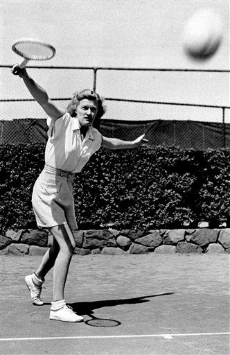 This Aug. 30, 1931 file photo shows Pauline Betz working out in New York. Tennis Hall of Famer Pauline Betz Addie died Tuesday, May 31, 2011,  at an assisted-living facility in Potomac, Md., according to The International Tennis Hall of Fame.  She was 91.   &#40;AP Photo&#47;File&#41; <span class=meta>(AP Photo&#47; XNBG PK**NY**)</span>