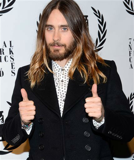 Best Supporting Actor Jared Leto attends the 79th Annual New York Film Critics Circle Awards at the Edison Ballroom on Monday, Jan. 6, 2014, in New York. &#40;Photo by Evan Agostini&#47;Invision&#47;AP&#41; <span class=meta>(Photo&#47;Evan Agostini)</span>