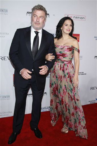 Alec Baldwin and Hilaria Baldwin arrives at the Elton John AIDS Foundation&#39;s 12th Annual &#34;An Enduring Vision&#34; benefit gala at Cipriani Wall Street on Tuesday, Oct. 15, 2013 in New York. &#40;Photo by Carlo Allegri&#47;Invision&#47;AP&#41; <span class=meta>(Photo&#47;Carlo Allegri)</span>