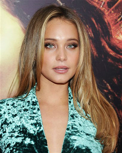 "Model Hannah Davis attends a special screening of ""The Hunger Games: Catching Fire"" at AMC Lincoln Square on Wednesday, Nov. 20, 2013 in New York. (Photo by Evan Agostini/Invision/AP)"