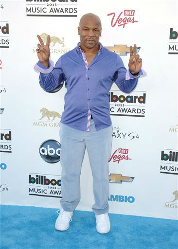 Mike Tyson arrives at the Billboard Music Awards at the MGM Grand Garden Arena on Sunday, May 19, 2013 in Las Vegas. &#40;Photo by John Shearer&#47;Invision&#47;AP&#41; <span class=meta>(AP Photo&#47; John Shearer)</span>