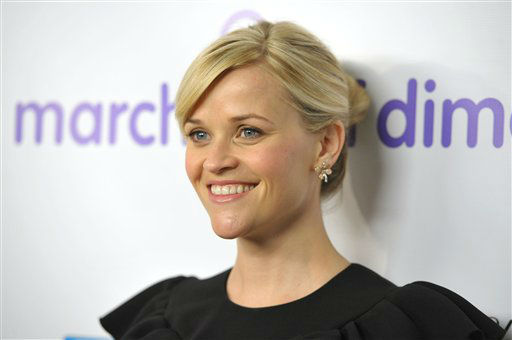 Reese Witherspoon arrives to the March of Dimes Celebration of Babies on Friday, Dec. 7, 2012, in Beverly Hills, Calif. (Photo by John Shearer/Invision/AP)