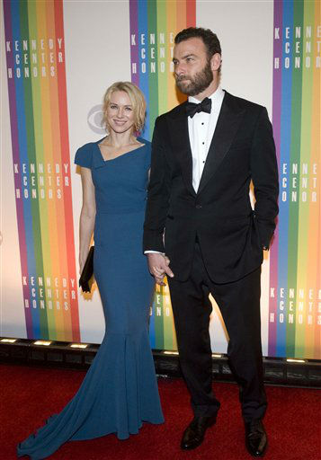 Naomi Watts and Liev Schreiber arrive at the Kennedy Center for the Performing Arts for the 2012 Kennedy Center Honors Performance and Gala Sunday, Dec. 2, 2012 at the State Department in Washington. &#40;AP Photo&#47;Kevin Wolf&#41; <span class=meta>(AP Photo&#47; Kevin Wolf)</span>