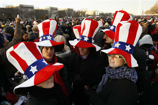 "<div class=""meta ""><span class=""caption-text "">President Barack Obama supporters wait on the National Mall in Washington, Monday, Jan. 21,  2013, for the start of President Barack Obama's ceremonial swearing in during the 57th Presidential Inauguration. (AP Photo/Jose Luis Magana) (AP Photo/ Jose Luis Magana)</span></div>"