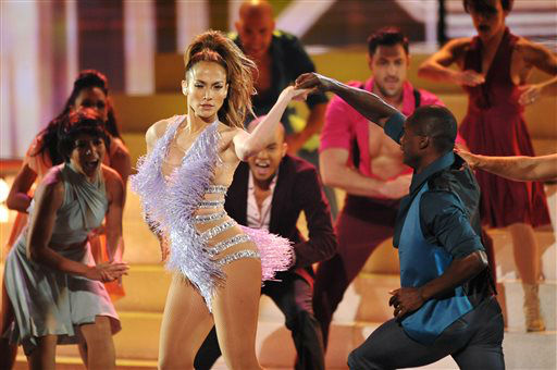 Jennifer Lopez performs at the American Music Awards at the Nokia Theatre L.A. Live on Sunday, Nov. 24, 2013, in Los Angeles. (Photo by John Shearer/Invision/AP)