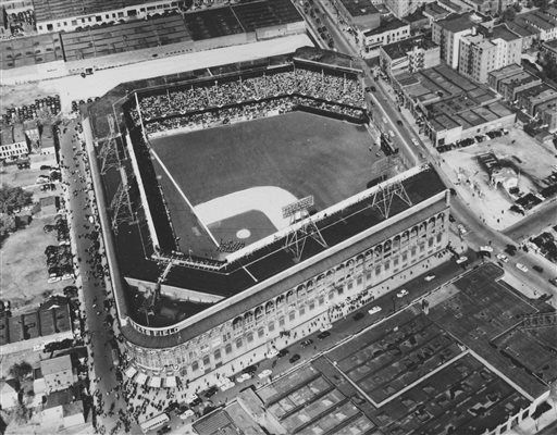 FILE - This July 1954 file photo shows an aerial view of Ebbets Field stadium in the Brooklyn borough of New York. With the new movie &#34;42&#34; bringing the Jackie Robinson story to a whole new generation, fans young and old may be interested in seeing some of the places in Brooklyn connected to the Dodger who integrated Major League Baseball. &#40;AP Photo, file&#41; <span class=meta>(AP Photo&#47; Uncredited)</span>