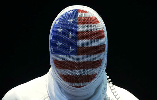 The United State&#39;s Seth Kelsey looks on during his match against Estonia&#39;s Nikolai Novosjolov in the men&#39;s individual epee fencing competition at the 2012 Summer Olympics, Wednesday, Aug. 1, 2012, in London.&#40;AP Photo&#47;Dmitry Lovetsky&#41; <span class=meta>(AP Photo&#47; Dmitry Lovetsky)</span>