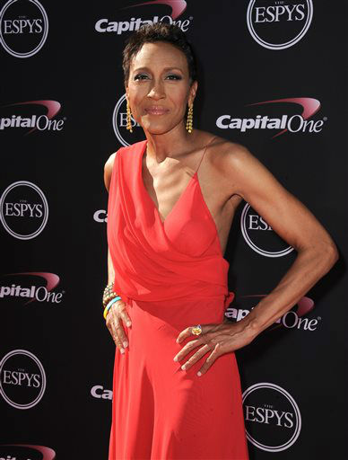 "<div class=""meta image-caption""><div class=""origin-logo origin-image ""><span></span></div><span class=""caption-text"">Television host Robin Roberts arrives at the ESPY Awards on Wednesday, July 17, 2013, at Nokia Theater in Los Angeles. (Photo by Jordan Strauss/Invision/AP) (Photo/Jordan Strauss)</span></div>"
