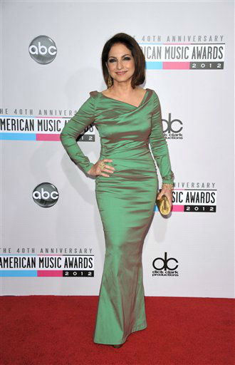 "<div class=""meta ""><span class=""caption-text "">Gloria Estefan arrives at the 40th Anniversary American Music Awards on Sunday, Nov. 18, 2012, in Los Angeles. (Photo by John Shearer/Invision/AP) (AP Photo/ John Shearer)</span></div>"