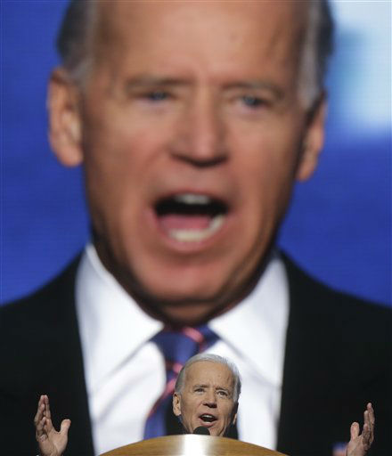 Vice President Joe Biden addresses the Democratic National Convention in Charlotte, N.C., on Thursday, Sept. 6, 2012. &#40;AP Photo&#47;Charles Dharapak&#41; <span class=meta>(AP Photo&#47; Charles Dharapak)</span>