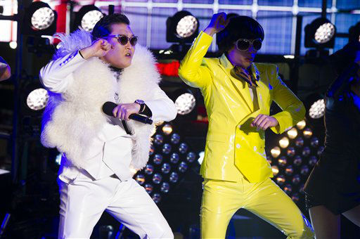 Psy performs on Dick Clark's New Year's Rockin' Eve.