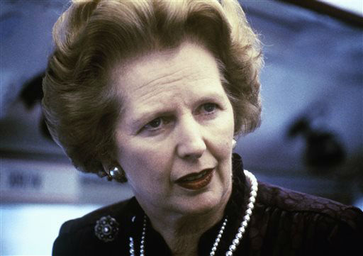 "<div class=""meta image-caption""><div class=""origin-logo origin-image ""><span></span></div><span class=""caption-text"">This is a 1969 file photo showing Margaret Thatcher. Ex-spokesman Tim Bell says that former British Prime Minister Margaret Thatcher has died. She was 87. Bell said the woman known to friends and foes as ""the Iron Lady"" passed away Monday morning, Aprilo 8, 2013. (AP Photo/File) (AP Photo/ Uncredited)</span></div>"