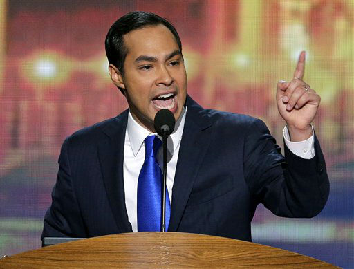 San Antonio Mayor Julian Castro addresses the Democratic National Convention in Charlotte, N.C., on Tuesday, Sept. 4, 2012. &#40;AP Photo&#47;J. Scott Applewhite&#41; <span class=meta>(AP Photo&#47; J. Scott Applewhite)</span>