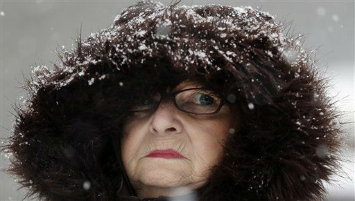 "<div class=""meta ""><span class=""caption-text "">Mary Ann Bova walks along a slippery snow covered sidewalk during a winter storm in Buffalo, N.Y., Friday, Feb. 8, 2013. In some upstate areas, snow fell early Friday morning and was expected to increase throughout the day, with the heaviest accumulations expected in eastern New York on Friday night.(AP Photo/David Duprey) (Photo/David Duprey)</span></div>"