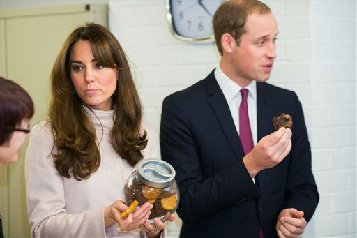 "<div class=""meta image-caption""><div class=""origin-logo origin-image ""><span></span></div><span class=""caption-text"">Britain's Duke and Duchess of Cambridge, William and Kate, make their first joint visit to the city of Cambridge and  visit  Jimmy's, a night shelter that they opened,  and  try cookies made in the shelter's kitchen Wednesday Nov. 28 2012.  (AP Photo / Paul Rogers , Pool) (AP Photo/ Paul Rogers)</span></div>"