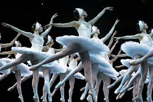 The English National Ballet troupe performs during a pre-show at the artistic gymnastics women&#39;s individual all-around competition at the 2012 Summer Olympics, Thursday, Aug. 2, 2012, in London. &#40;AP Photo&#47;Julie Jacobson&#41; <span class=meta>(AP Photo&#47; Julie Jacobson)</span>