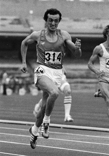FILE - This Sept. 12, 1979 file photo shows Pietro Mennea of Italy running the 200-meters dash event at the World University Games in Mexico City, where he set a new world record with a time of 19.72 seconds. Mennea, who held the 200 meter world record from 1979 to 1996 when Micheal Johnson of the US set a new world record, died in a Rome clinic on Thursday, March 21, 2013 after a long illness, agencies reported.  &#40;AP Photo&#47;Drew, files&#41; <span class=meta>(AP Photo&#47; Drew)</span>