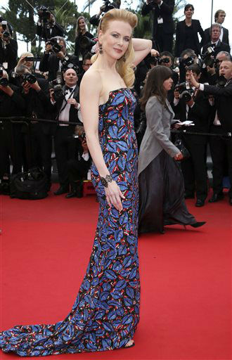 FILE - This May 19, 2013 file photo shows actress and jury member Nicole Kidman wearing an embroidered L&#39;Wren Scott dress for the screening of the film &#34;Inside Llewyn Davis&#34; at the 66th international film festival, in Cannes. &#40;Photo by Joel Ryan&#47;Invision&#47;AP, file&#41; <span class=meta>(Photo&#47;Joel Ryan)</span>