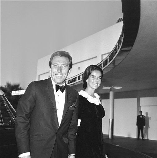 Andy Williams with his wife Claudine arriving for TV Academy Awards show in Hollywood on Sept. 12, 1965. &#40;AP Photo&#41; <span class=meta>(AP Photo&#47; IP MN, NC. KEY R3, D. XMEH)</span>