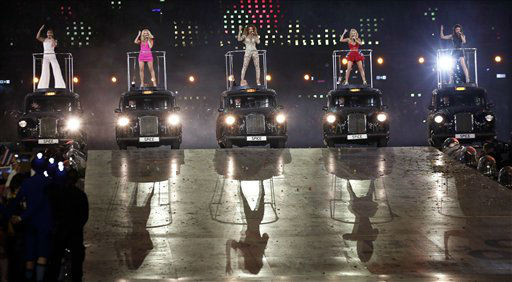 The Spice Girls perform during the Closing Ceremony at the 2012 Summer Olympics, Sunday, Aug. 12, 2012, in London. &#40;AP Photo&#47;Charlie Riedel&#41; <span class=meta>(AP Photo&#47; Charlie Riedel)</span>