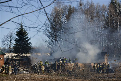 "<div class=""meta ""><span class=""caption-text "">Ministry for Emergency Situations workers and firefighters work at a site of a fire of a psychiatric hospital Friday morning, April 26, 2013. At least 38 people died in a fire in a psychiatric hospital outside Moscow late Thursday night. Police said the fire, which broke out at about 2 a.m. local time (6 p.m. Eastern, 2200 GMT) in the one-story hospital in the Ramenskoye settlement, was caused by a short circuit. (AP Photo/Pavel Sergeyev) (AP Photo/ Pavel Sergeyev)</span></div>"