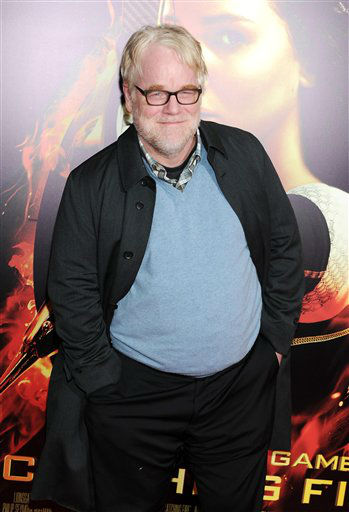 "Actor Philip Seymour Hoffman attends a special screening of ""The Hunger Games: Catching Fire"" at AMC Lincoln Square on Wednesday, Nov. 20, 2013 in New York. (Photo by Evan Agostini/Invision/AP)"