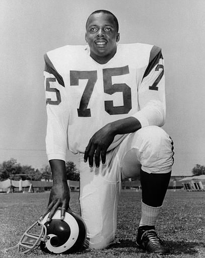 David &#34;Deacon&#34; Jones of the Los Angeles Rams is seen in 1966.  &#40;AP Photo&#41; <span class=meta>(AP Photo&#47; Anonymous)</span>
