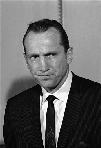 New American Football League commissioner, Al Davis, is shown at his news conference at Hotel Sheraton East in New York, April 28, 1966. &#40;AP Photo&#41; <span class=meta>(AP Photo&#47; XJFM)</span>