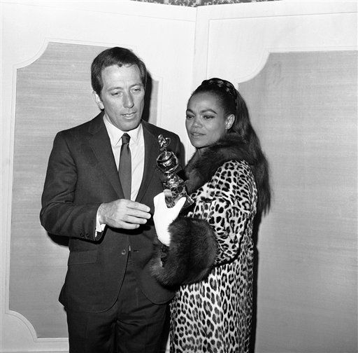 "<div class=""meta ""><span class=""caption-text "">Nominations in the 24th Annual Golden Globe Awards competition of the Hollywood Foreign Association were held, Jan. 16, 1967 at the Ambassador Hotel in Los Angeles. Shown are Andy Williams and Eartha Kitt. (AP Photo) (AP Photo/ Anonymous)</span></div>"
